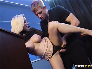Bailey Brooke gets frolic with the suspended bouncer