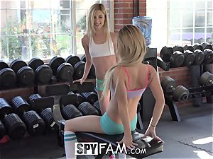 SpyFam Step brutha Catches Step Sisters slurping labia