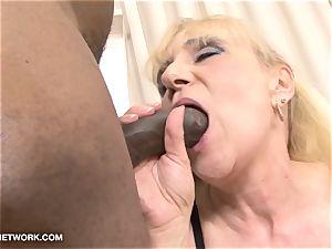 grannie pornography older lady Takes facial jizz flow Gets poked