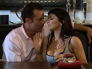 Romi Rain is thanked with a huge lollipop tearing up