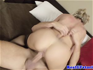 sizzling light-haired housewife milf nailed
