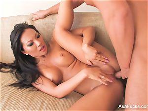 supah super-sexy Asa Akira bangs on the bed