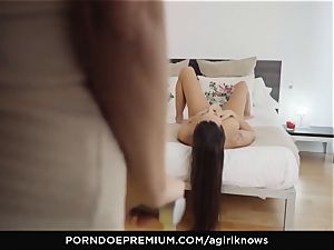 A doll KNOWS - Mea Melone in strenuous g/g fuck-a-thon