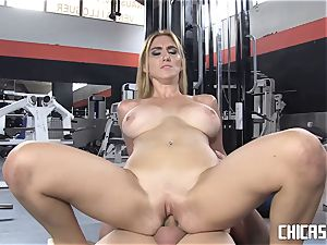 Chicas Loca - huge-chested Latina pulverized at the gym