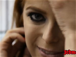 ginger-haired succubus Penny Pax boned into splooging