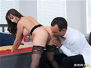 Lexi Luna drilling in the office