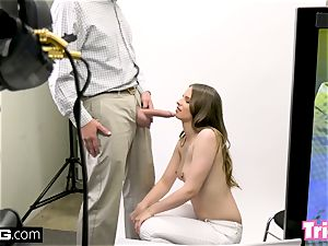 Jillian Janson gets tricked into smashing on a audition