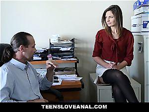 super-cute secretary bum torn up by her chief