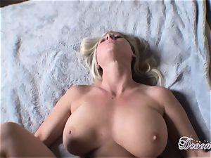 Devon Lee enjoys the monster muscle boinking her slit real fine