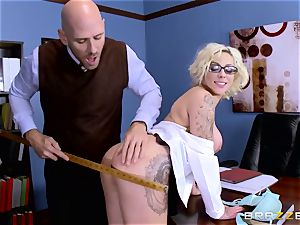 Dean Johnny Sins holds a hook-up education lesson with a lustful student