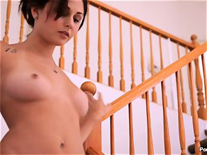 marvelous Ariana Marie is sweet and new and prepped to nail