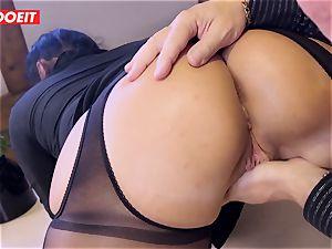 German secretary dirty dances Her ass On Her manager Desk