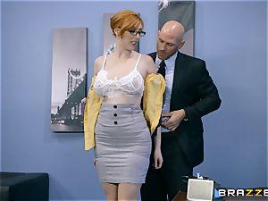 bone greedy Lauren Phillips torn up in her ginger slit