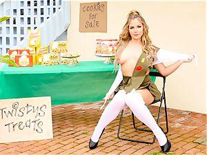 Scout honey Blair Williams sells her torrid cookies