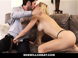 SheWillCheat hotwife wifey Gags on cock