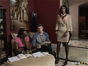 bi-racial nail with raging stepmom Diamond Jackson