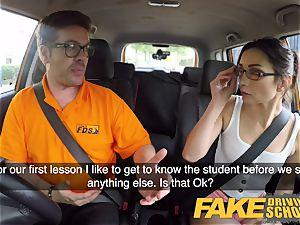 fake Driving college torrid Italian nymphomaniac minx