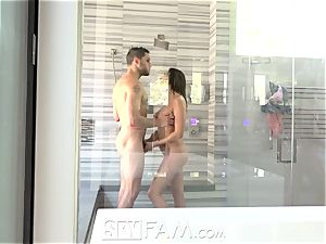 SpyFam Step brother spies on step sister Ashley Adams