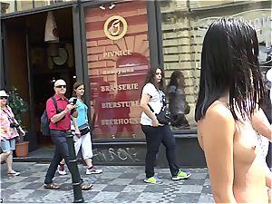 youthful hottie girl Dee on Czech streets entirely nude