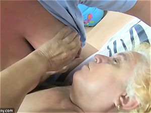 OldNanny grandmother and mature jerked wooly muff