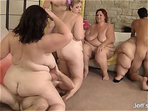 insane plumper bang-out with 4 plus-size stunners