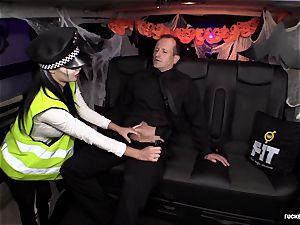 FuckedInTraffic - Jasmine Jae drills in Halloween attire